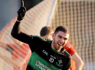 Luke Connolly celebrates his second goal.