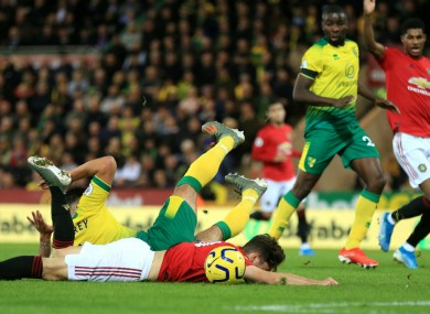 VAR awarded Man United two penalties against Norwich City.