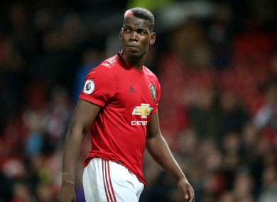 Paul Pogba has aggravated a foot injury.