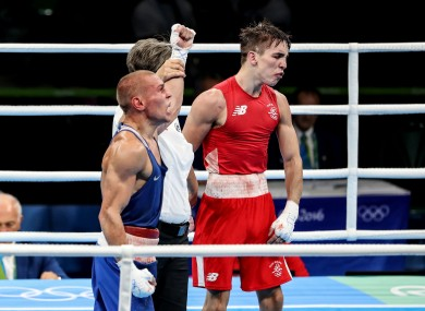 Conlan and Nikitin after their fight at Rio 2016.