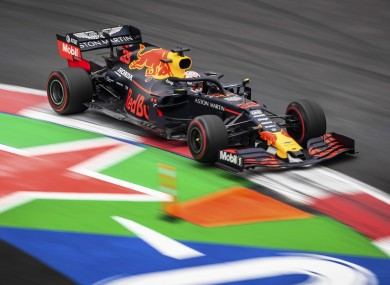 Max Verstappen in action in Mexico.