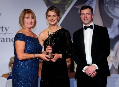 Niamh Mulcahy receiving her award.