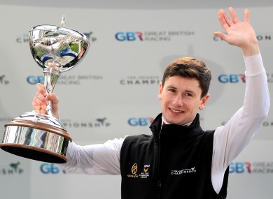 Murphy lifting his trophy over the weekend.