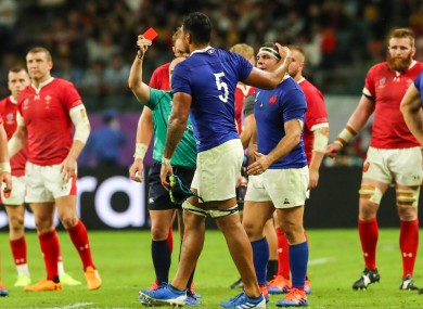 France have to play the final 30 minutes a man down.
