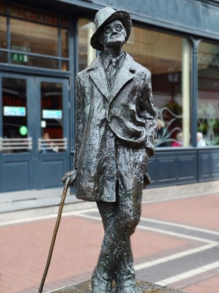 James Joyce statue in Dublin.