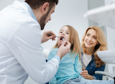 Child at the dentist.