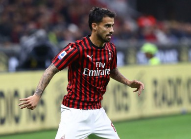 AC Milan forward Suso.