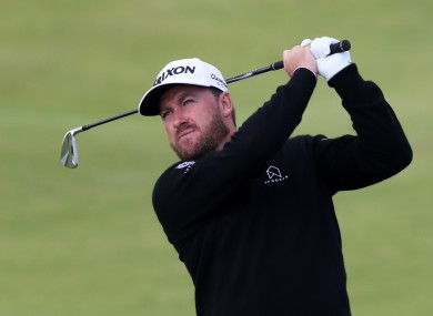 Graeme McDowell is going well.