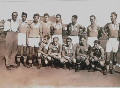 Jim Donnelly, far left, pictured with the Gradjanski Zagreb team he coached in the early 1930s.