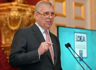 File photo. Prince Andrew.