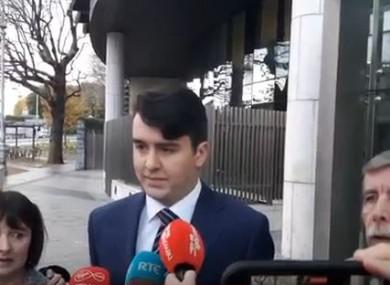 Al Porter speaking outside court today