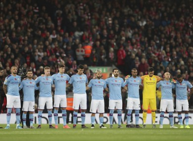 The Man City players.
