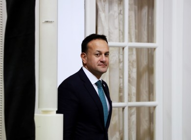 Taioseach Leo Varadkar at Farmleigh in Dublin on Friday.