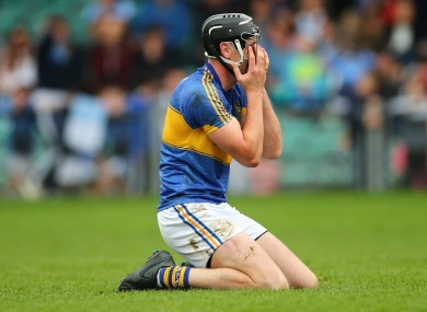 Diarmaid Byrnes celebrates the county final victory.