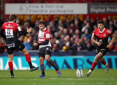 Gloucester Rugby's Danny Cipriani (right) in action during the Pool Five match of the Heineken Champions Cup match at Kingsholm.