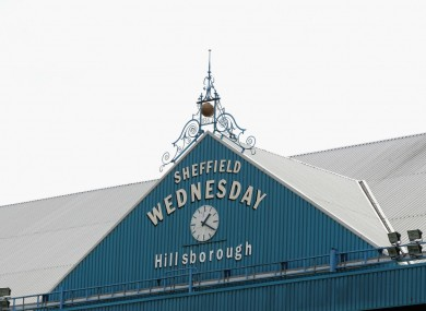 Sheffield Wednesday's Hillsborough Stadium.