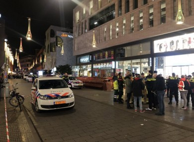 At the scene tonight in The Hague.