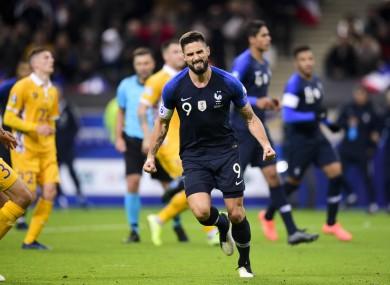 Olivier Giroud scored the decisive penalty for France.
