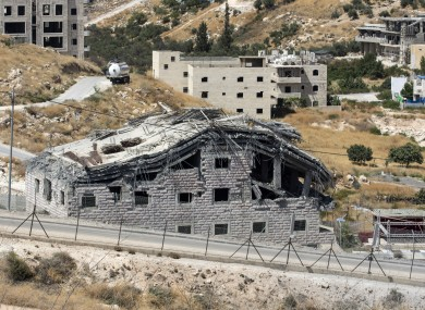 Buildings demolished by Israel in the West Bank village of Dar Salah