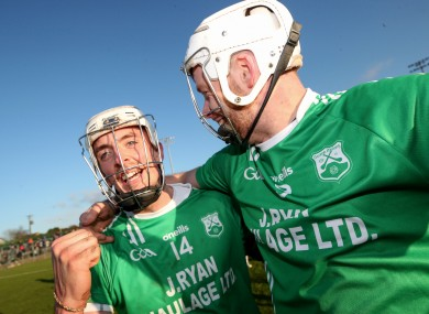 James Doyle and Jack Kavanagh celebrate at the final whistle.