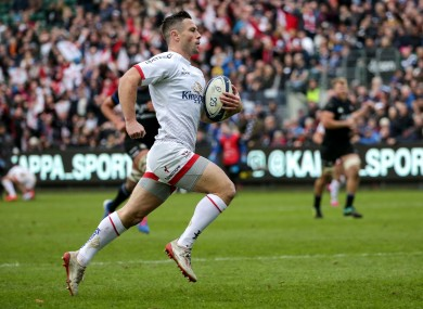 Cooney posted 12 of Ulster's points, including a first-half try.