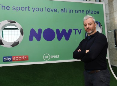 Stephen Hunt pictured at the Now TV launch.