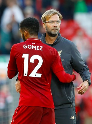 Klopp with his England star Joe Gomez.