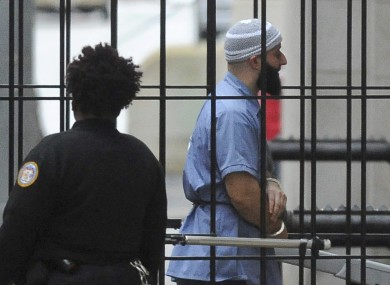 Adnan Syed entering a courthouse in 2016.
