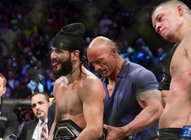 Jorge Masvidal beats Nate Diaz.