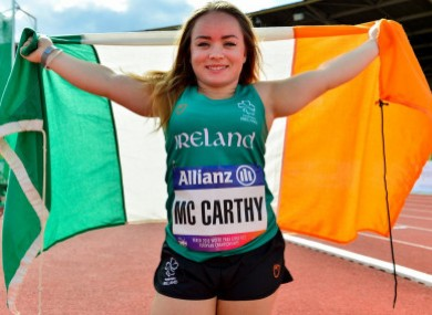 Bronze for Ireland: Niamh McCarthy (file pic).