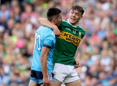 Dublin's Niall Scully and Kerry's David Clifford in last year's final replay.