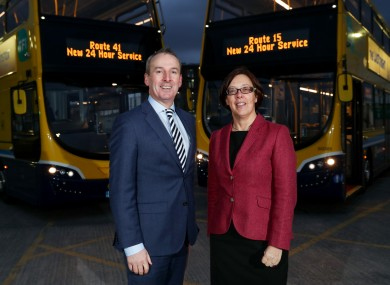 Dublin Bus CEO Ray Coyne with NTA CEO Anne Graham