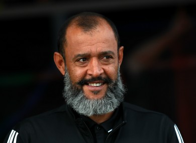 Wolves boss Nuno Espirito Santo.