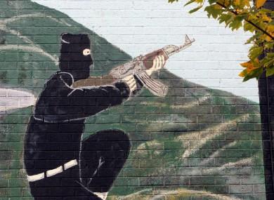A UVF mural in north Belfast.