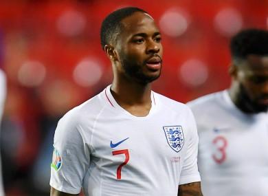England winger Raheem Sterling.