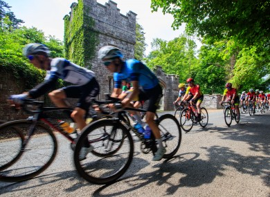 Riders passing Dunsany Castle in 2018.