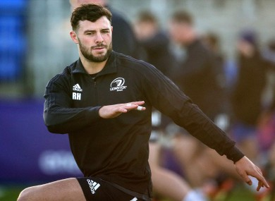 Robbie Henshaw will make his first start of the season for Leinster.