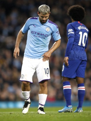 Sergio Aguero picked up the injury against Chelsea on Saturday.