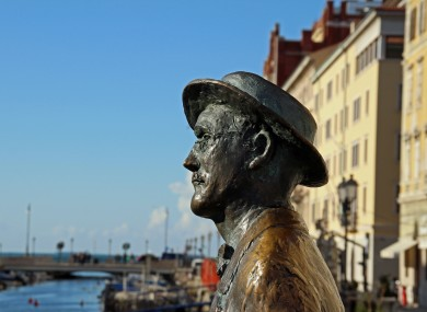 James Joyce statue in Trieste, Italy where he lived for a period.