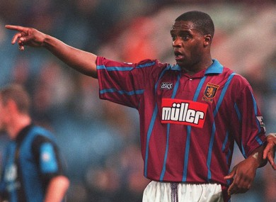 Atkinson played for Aston  Villa between 1991-1995.