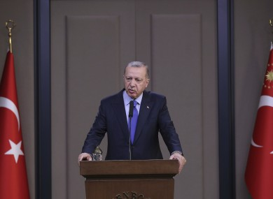 Turkish President Recep Tayyip Erdogan has criticised Europe and the US for not taking back Islamic State fighters.