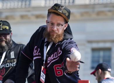 Washington Nationals pitcher Sean Doolittle (file pic).