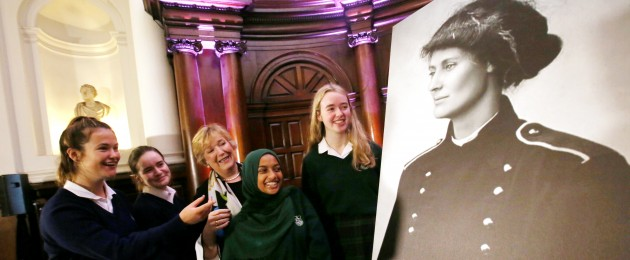 A number of girls from Santa Sabina Dominican College attend the Countess Markievicz Conference