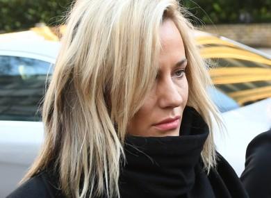 Caroline Flack arriving at court this morning.