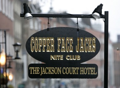 The entrance to Copper Face Jacks on Harcourt Street.