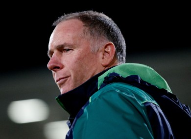 Andy Friend pictured during Connacht's defeat to Ulster.