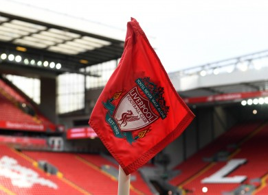 A general shot of Anfield.