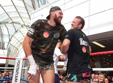 Tyson Fury and former trainer Ben Davison.