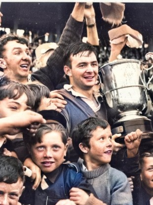 Charlie Gallagher with The Anglo-Celt cup in 1967. He won four Ulster SFCs, two as captain.