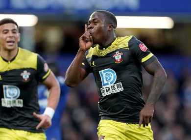 Southampton's Michael Obafemi celebrates scoring his side's first goal.